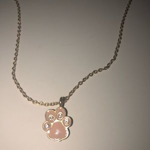 Accessories - Delicate Paw Print Charm Necklace
